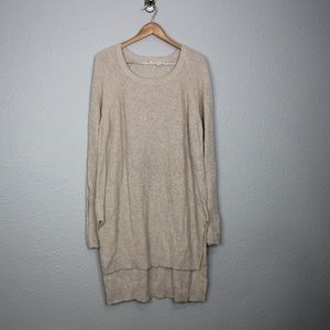 Anthropologie Moth Cream Long Sleeve Sweater Dress
